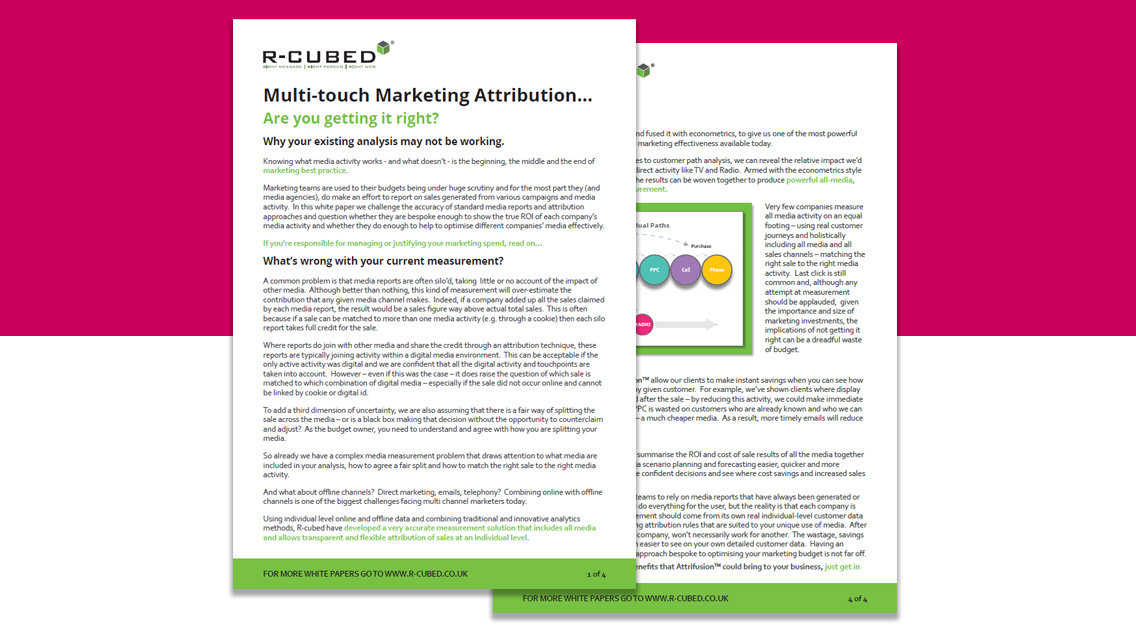 Multi-touch Marketing Attribution Image