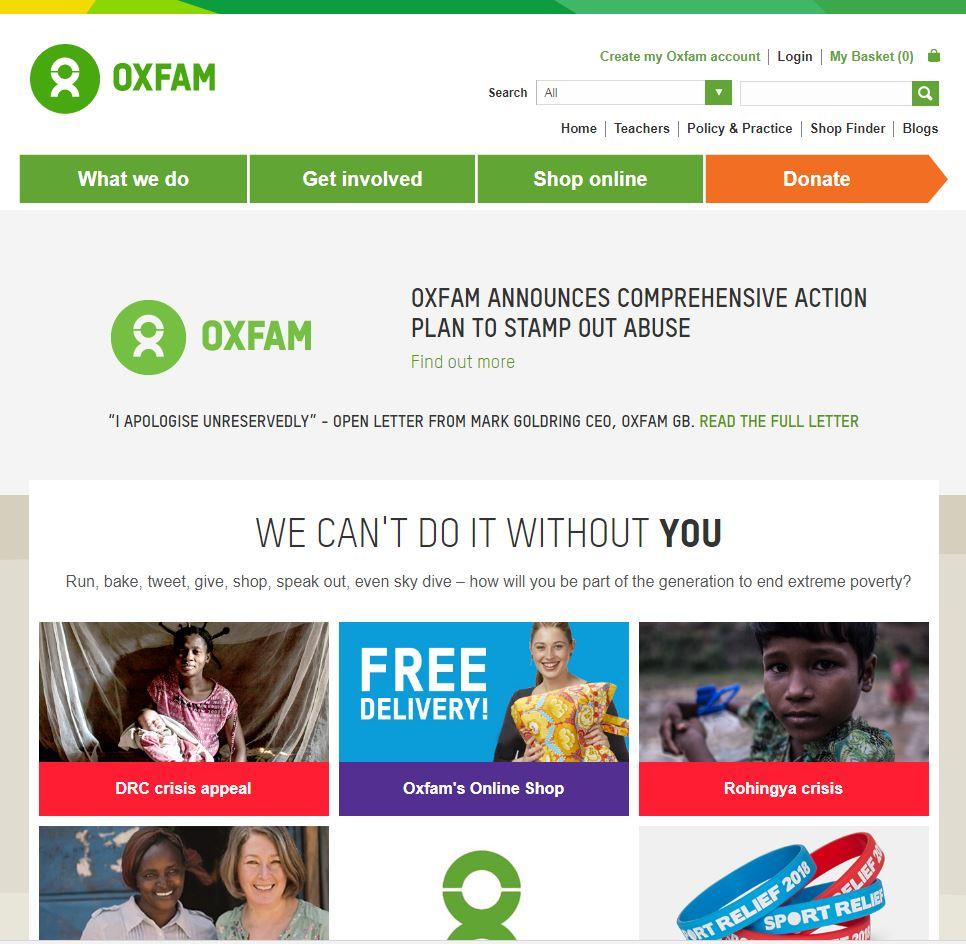 Oxfam Customer segmentation case study image