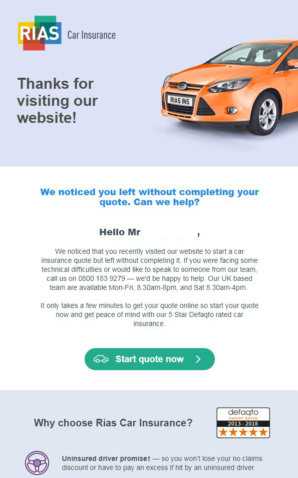 Marketing Automation RIAS case study email