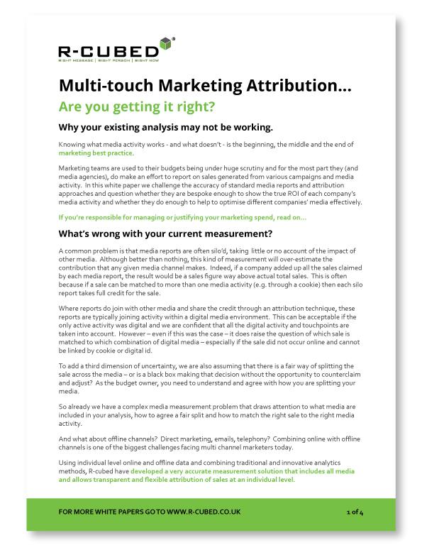 Optimising your marketing budget