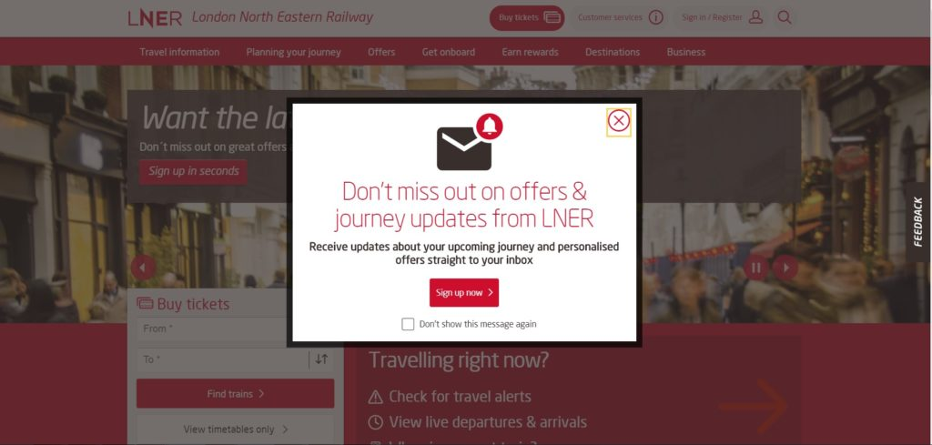 Customer Journey LNER awareness image