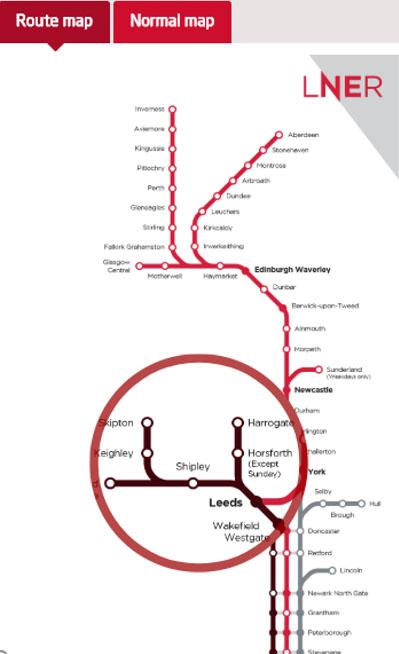 Customer Journey LNER map image