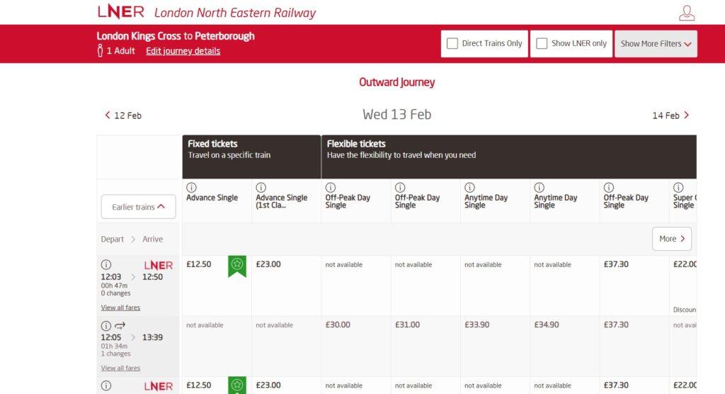 Customer Journey LNER purchase image 3