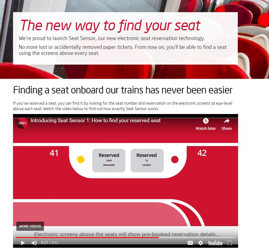 Customer Journey LNER seat image