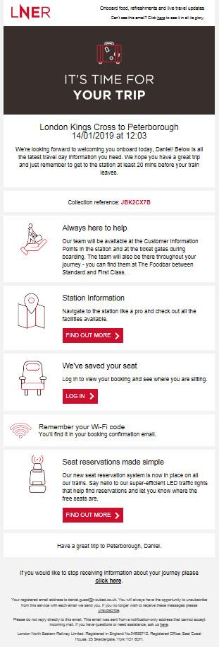 Customer Journey LNER trip image