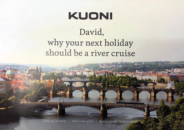 Customer journey direct mail Kuoni
